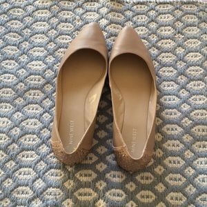 Nine West flats w/ rhinestones on the heel